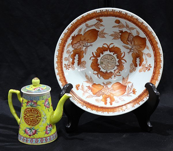 Chinese Bowl and Tea Pot
