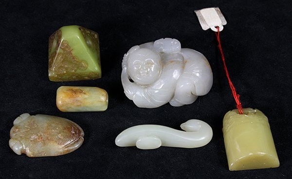Six Chinese Stone/Jade Carvings
