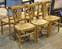 lot of 6 French Provencial style dining chairs