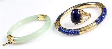 Collection of gemstone and yellow gold jewelry