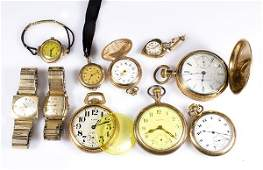 Collection of goldfilled and gold plated watches