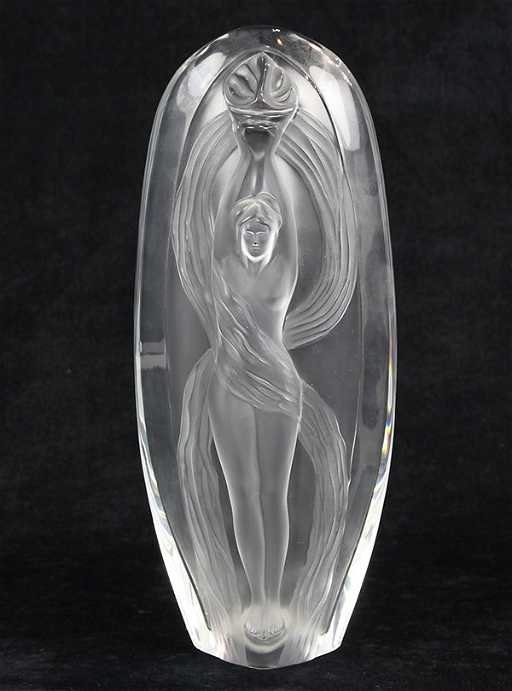 Marie Claude Lalique Eroica Frosted Glass Vase