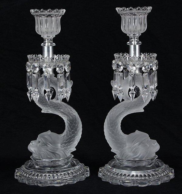 Pair of Baccarat crystal candelabra - 3