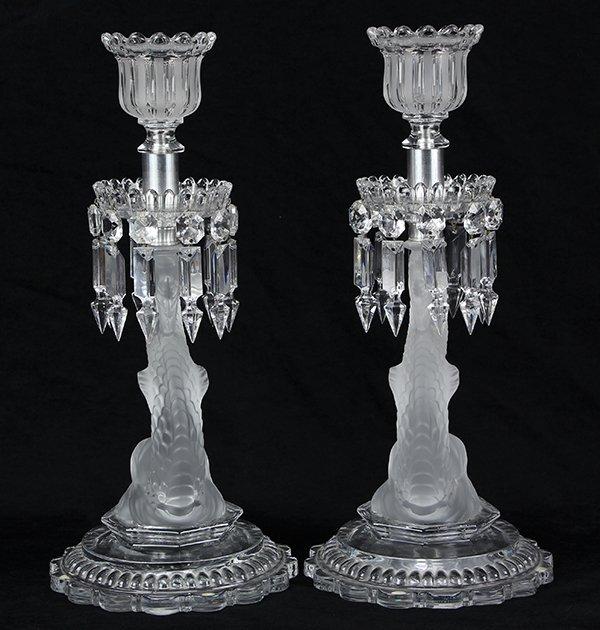 Pair of Baccarat crystal candelabra - 4