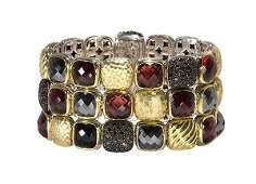 David Yurman garnet black diamond and hematite