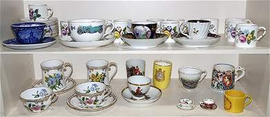 (lot of 28) Collection of assorted porcelain cups and