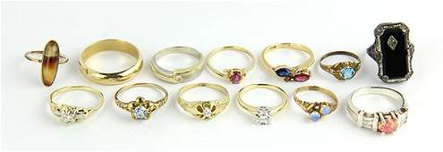 Collection of gemstone rings