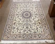 "Persian part silk Tabriz carpet, 4'2"" x 7'"