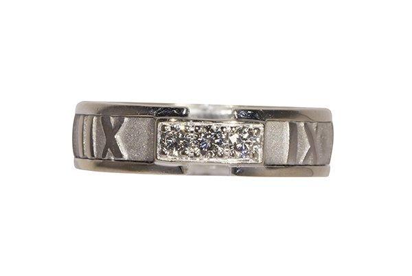 Tiffany & Co. Atlas diamond and 18k white gold band