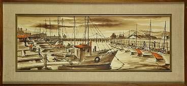 Painting, San Francisco Waterfront