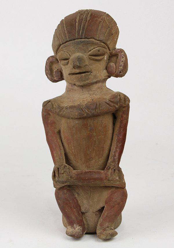 Pre-Columbian clay figure, Ecuador