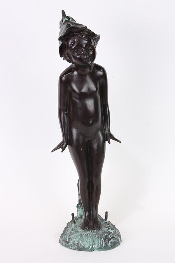 Bronze fountain sculpture, After Edward Berge