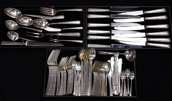 Ameican sterling silver flatware service for twelve by