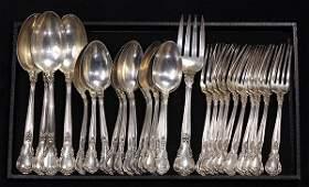 19th century Gorham sterling silver dessert service in