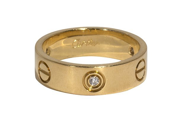 Cartier Love diamond and 18k yellow gold ring
