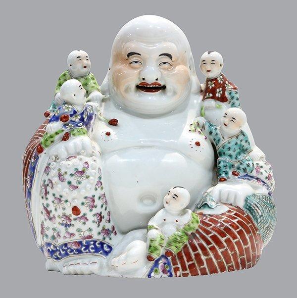 Chinese Porcelain Budai, Zhu Maocheng Mark