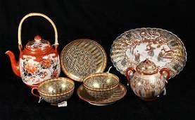 Japanese Kutani Satsuma porcelain