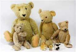 lot of 19 Vintage teddy bear group including two