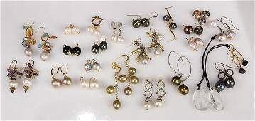 Collection of cultured pearl, 14k yellow gold and