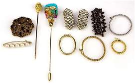 Collection of gem gold silver and miscellaneous