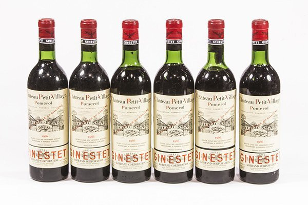 (lot of 6) 1966 Chateau Petit-Village Pomerol, each