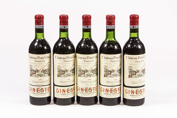(lot of 5) 1966 Chateau Petit-Village Pomerol, each