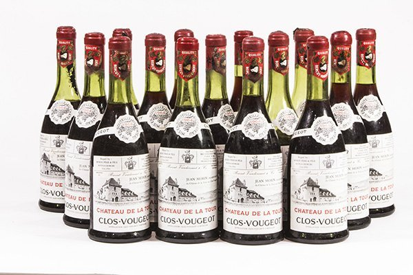 (lot of 15) 1964 Chateau de la Tour Clos-Vougeot