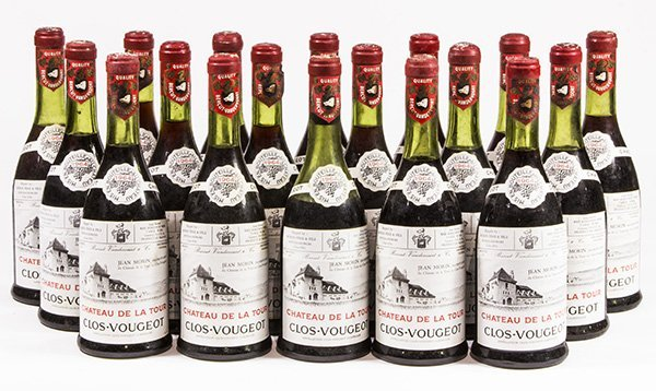 (lot of 18) 1964 Chateau de la Tour Clos-Vougeot