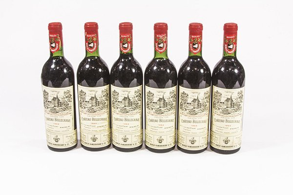 (lot of 6) 1964 Chateau Bellegrave Gran Vin