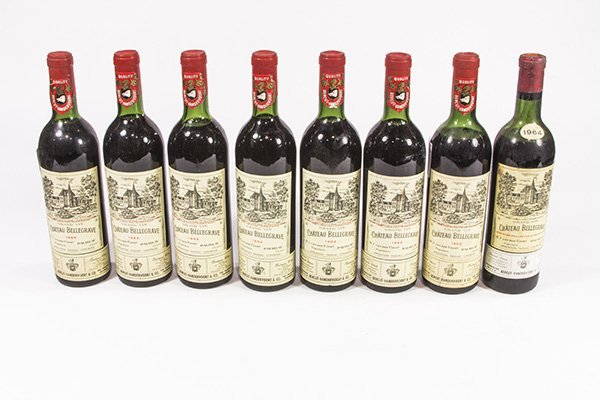 (lot of 8) French wine group consisting of a 1962 and