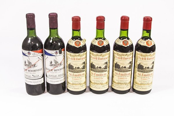 (lot of 6) French wine group consisting of (2) 1966