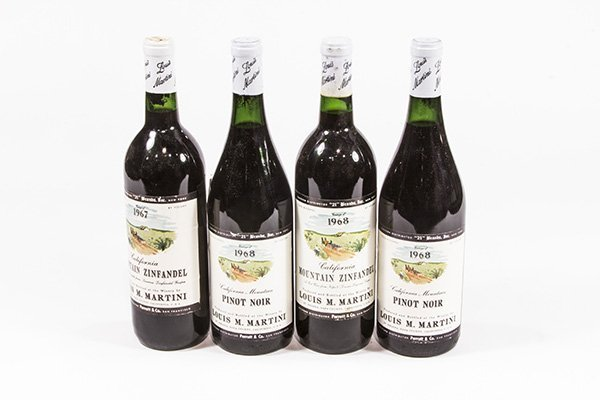 (lot of 4) California wine group consisting of (2) 1968