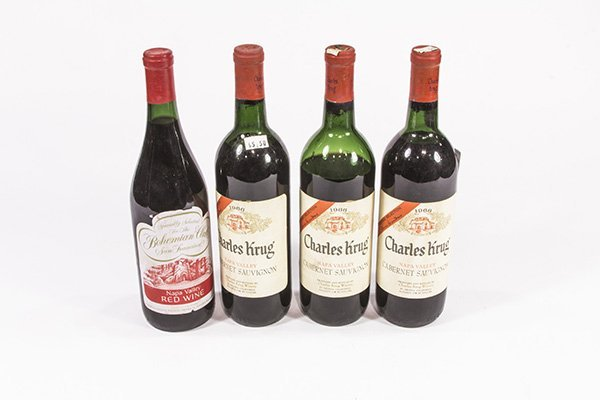 (lot of 4) California wine group consisting of (3) 1966