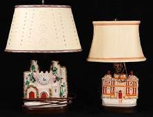 lot of 2 Staffordshire figural groups mounted as