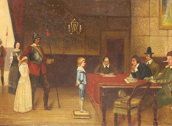 Painting of Trial of the Boy in Blue