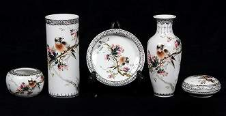 Five Chinese Porcelain Scholars Items