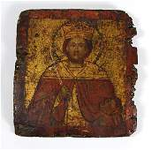 Greek painted wooden icon of John the Baptist