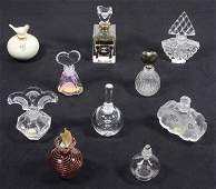 (lot of 10) Continental scent bottle collection,