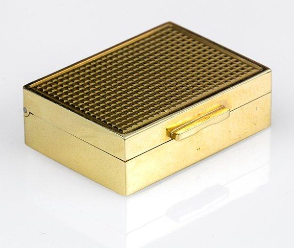 14k yellow gold pill box