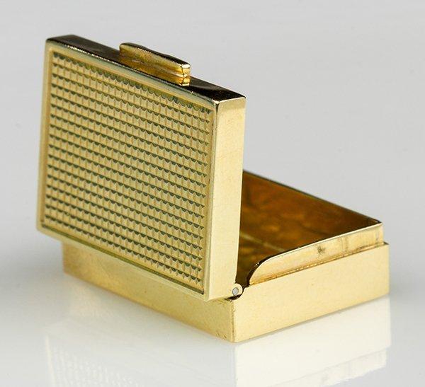 14k yellow gold pill box - 2