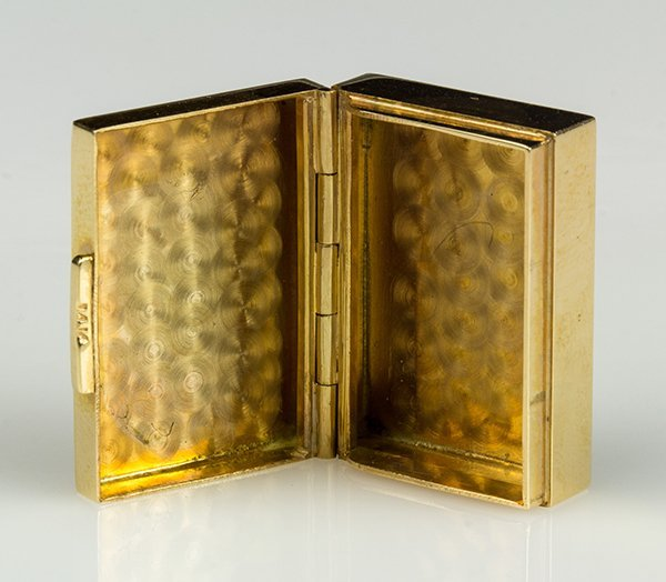 14k yellow gold pill box - 3