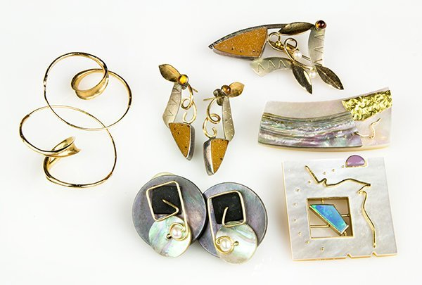 Collection of multi-stone and yellow gold jewelry