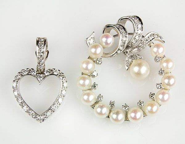 Collection of cultured pearl, diamond and white gold