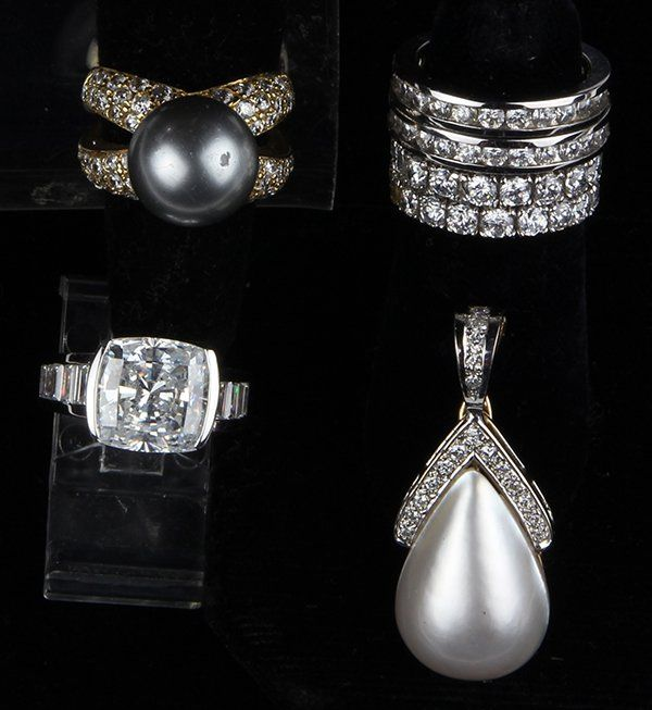 Collection of gem, cubic ziconia and 14k gold jewelry