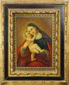 Retablo, Madonna and Child