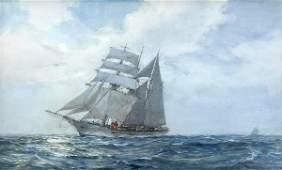 Watercolor, Montague Dawson