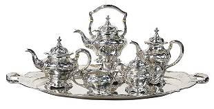 """Gorham .9584 silver """"Martele"""" pattern hot beverage"""