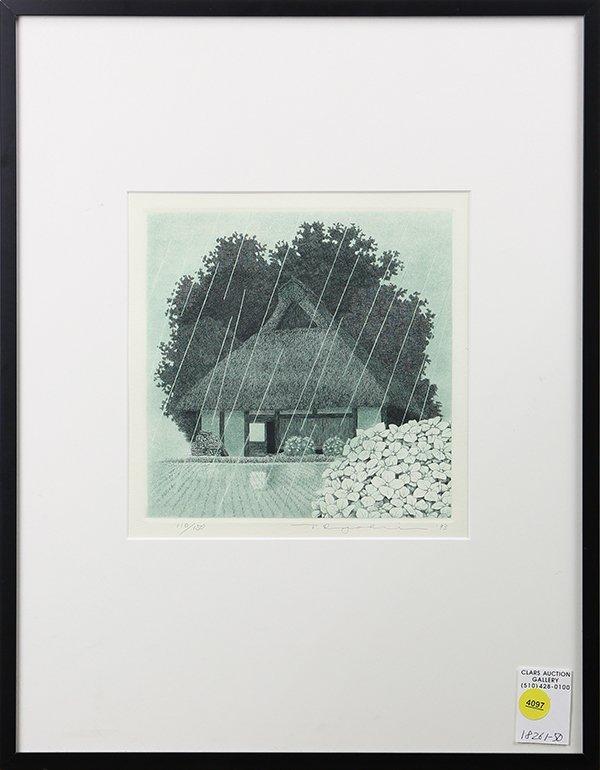 Japanese Print, Etching,Tanaka Ryohei