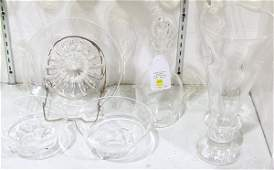 (lot of 5) Steuben crystal table articles