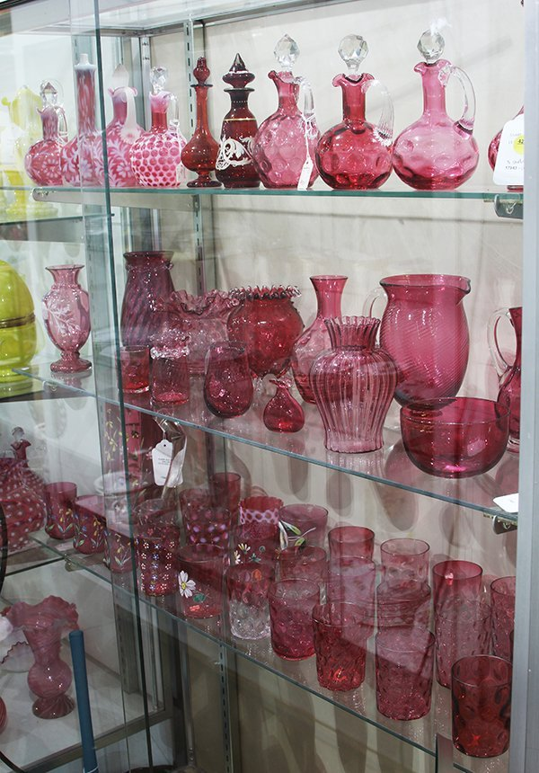 (lot of 31) Collection of Victorian cranberry glass